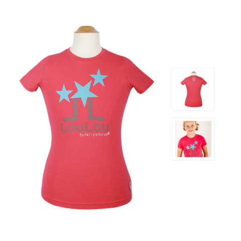 Harry's Horse Loulou Kids T-Shirt-Raspberry
