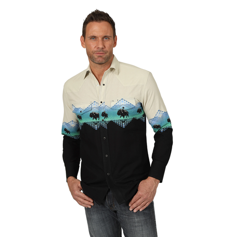 Wrangler Men's Western Shirt - #MC1255M