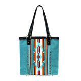 MW Turquoise Canvas Tote Bag