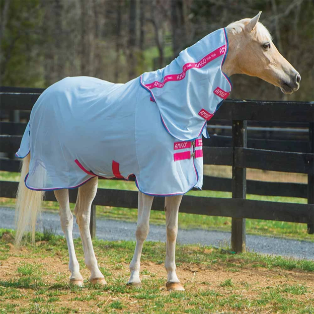 WEATHERBEETA GENERO COMBO ATTACHED NECK BELLY FLAP PONY//HORSE MESH FLY RUG//SHEET