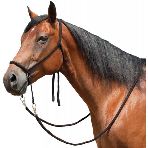 Poly Nylon Bitless Bridle w/ Reins