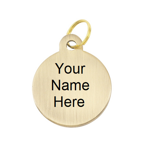 Round Tag Brass Name Plate