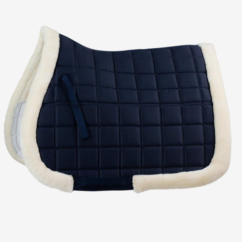 Ventilated Saddle Pad with Faux Fur Trim