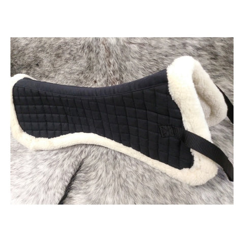 Silverline Fleece Lined Black Half Pad
