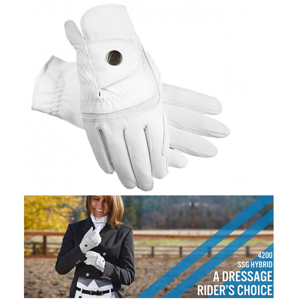"SSG ""Hybrid"" Riding Gloves - White"