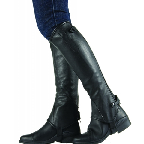 Topline Collection Cavalier Soft Leather Half Chaps