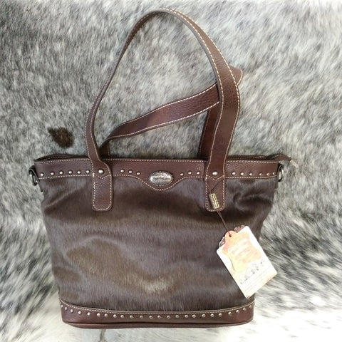 Trinity Ranch Leather Handbag with Studs