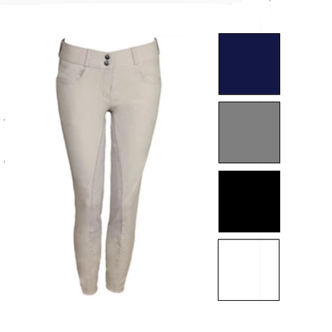Tuscany Ladies Premium Full Seat Breeches-FREE BELT*