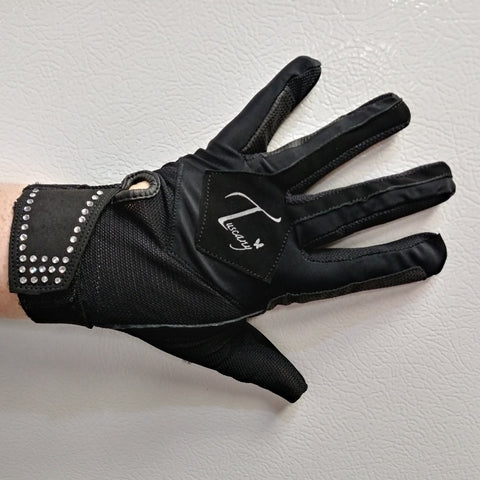 Tuscany Ladies Rhinestone Summer Mesh Gloves