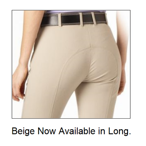 "Tuscany Premium ""Pearl"" Full Seat Beige Breeches – LONG #304"