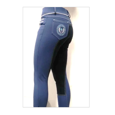Tuscany Ladies Full Seat Indigo Breeches-FREE BELT*