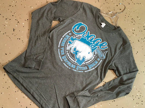 Osage County Where the Buffalo Still Roam Long Sleeve Tee