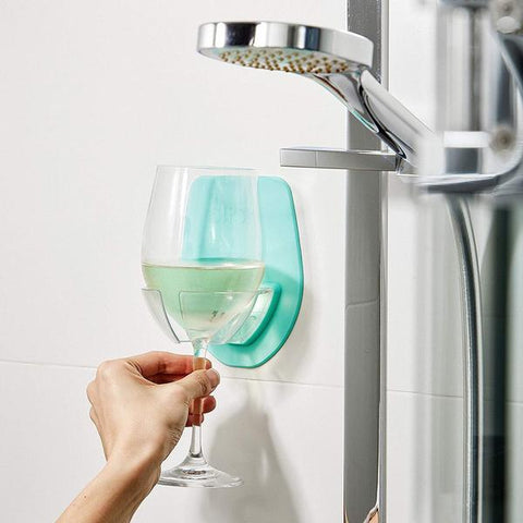 Funny and Creative Gifts for Wine Lovers – Shower Wine Glass Holder – Wine Themed gift ideas