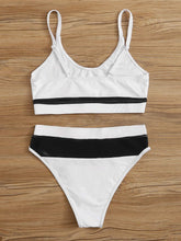 White and Black High Waisted Bikini with Mesh – Best Bikinis – Swimsuit Trends – Pool Party ideas – 2020 swimwear trends – Swimsuits Under $60 – Swimsuits that give back to charity  - White and Black Swimsuits