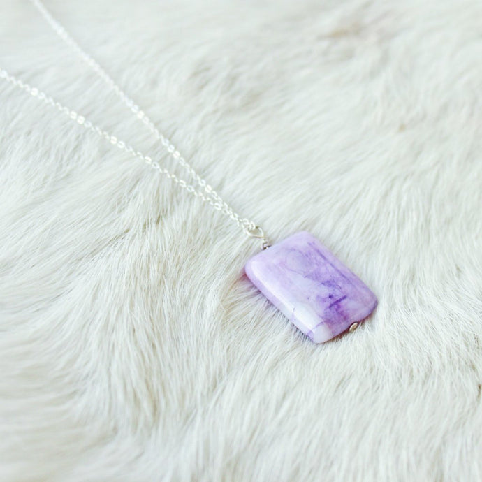 Purple Agate Necklace that Gives Back to Charity by ROX Jewelry Great for mothers or pregnant mothers baby shower gift