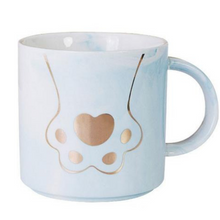 Cat Paw Marble Coffee Mug that Gives Back to Charity by ROX – Great Gifts that give back