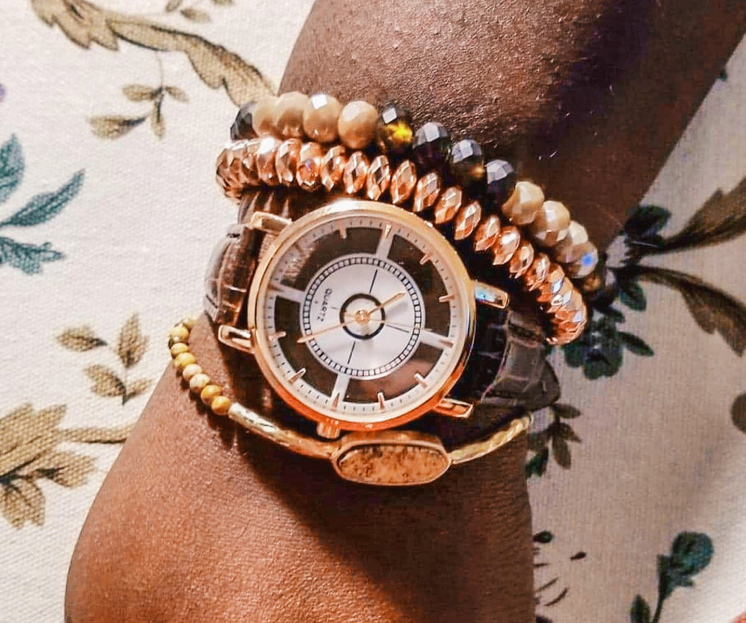 Clear see-through watch that Gives Back to Charity by ROX Jewelry that goes with every outfit