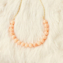 Sarah Choker Necklace that Gives Back to Charity by ROX in Orange Quartzite and Gold – Trendy and Affordable Perfect for Gameday Necklace that Gives Back Orange Jewelry - modern take on classic pearl choker
