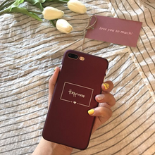 Happiness Wine Red Phone Case (Multiple iPhone Models)