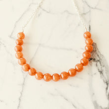 Sarah Choker Necklace that Gives Back to Charity by ROX in  Burnt Orange Quartzite and Silver – Trendy and Affordable Perfect for Gameday Necklace that Gives Burnt Orange Jewelry - modern take on classic pearl choker