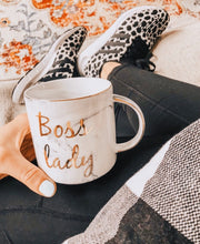 Boss Lady Marble Mug with Metallic Letters that Gives Back to Charity by ROX Jewelry the gift that gives back