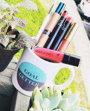 This Mug Gives Back to Charity - Goal getter teal and gray coffee mug from ROX Jewelry's Empowering women Collection Great Gift Ideas under $25