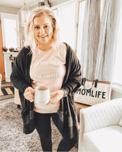 Stop and Smell the Coffee Shirt in Pink – Blogger Trends – Gift Ideas Under $30 that give back this holiday season – Coffee themed shirt tank gift ideas for girlfriend