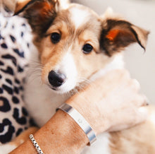 Handmade Paw Print Cuff Bracelet that benefits Austin Pets Alive by ROX Jewelry
