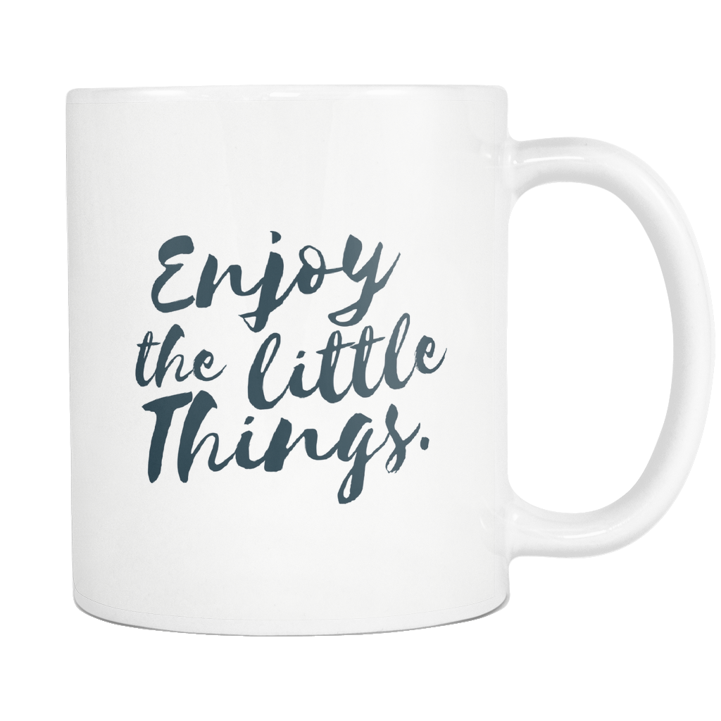 ROX Jewelry - Charity coffee mug - enjoy the little things coffee mug Austin Texas company giving back