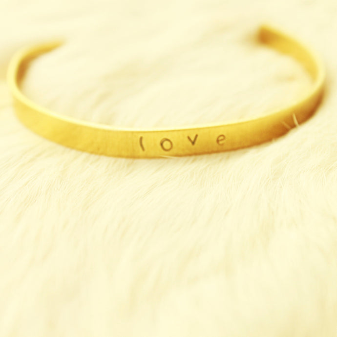 Custom Text Skinny Gold Bracelet that Gives Back to Charity by ROX Jewelry – Handmade Jewelry from Austin Texas, name bracelets