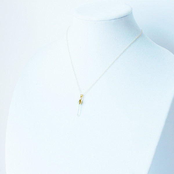 Morgan Quartz Healing Necklace that Gives Back to Charity Handmade in Austin Texas by ROX Jewelry