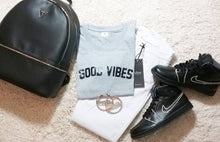 Good Vibes Gray Shirt that Gives Back to Charity by ROX » Great Gift Ideas Under $25