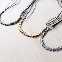 Gold, Silver, or Black Star Choker that Donates $25 to a Moment of Magic Foundation - Handmade Jewelry that gives back by ROX Jewelry