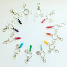 Custom Initial agate stone keychains that Give Back to Charity by ROX Jewelry – Trendy Keychains made in Austin, Texas