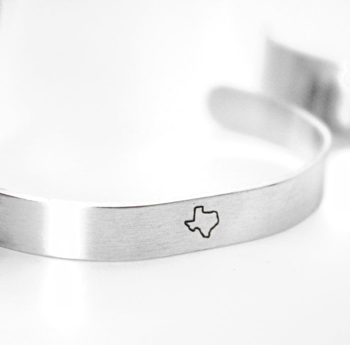 Texas Outline Bracelet that Gives Back to Charity by ROX  –  Handmade Trendy and Affordable Bracelets that Give Back – Texas Jewelry