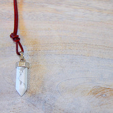 White Marbled Howlite Healing Pendant Necklace that Gives Back to Charity by ROX Jewelry – Crystal Gift Ideas – Jewelry for Her – Jewelry for Every Outfit – Gifts for Girlfriend – Gifts Ideas Sister – White Marble Stone Jewelry