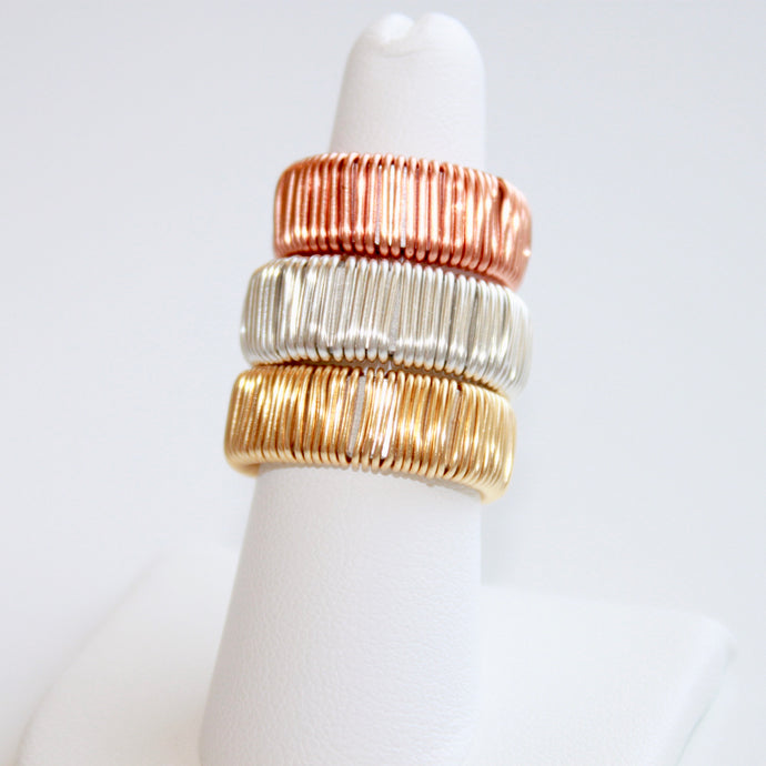 Statement Rose Gold, Gold, and Silver Rings with  that Gives Back to Charity by ROX Jewelry in Austin, Texas » Great Gift ideas for her under $50