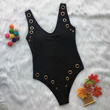 One Piece Swimsuit with Grommet Studs Holes in side – Best One Piece Swimsuits and Bodysuits – Flattering Swimsuits – Pool Party ideas – 2020 swimwear trends – Swimsuits Under $40 – Swimsuits that give back to charity  – Vegas Swimsuit Ideas