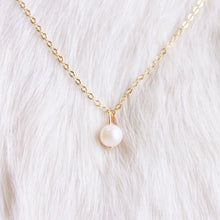 Single Pearl Solitaire Gold Plated Necklace that Gives Back to the Charity of Your Choice  – Necklaces for Girlfriends – gold Necklace – Layering Necklace – VSCO necklaces – Layered Necklaces – Simple Necklaces – Necklaces Simple – Cute Necklaces – Charity Necklace – Drop Necklace – ROX Jewelry Shop