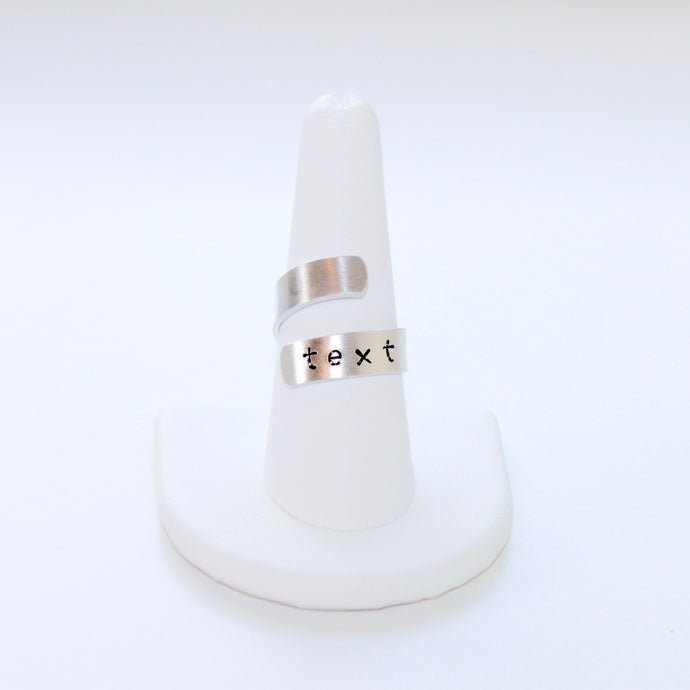 Custom Text, Date, Name Ring that Gives Back to Charity by ROX Jewelry in Austin, Texas » Great Gift ideas for her under $30