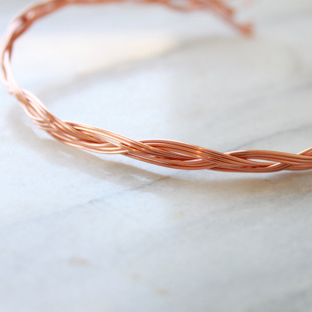 Rose Gold Choker and Bracelet that Gives Back to Charity by ROX Jewelry in Austin, Texas » Great Gift ideas for her » Braided Jewelry that converts from necklace to bracelet
