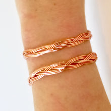 Rose Gold Bracelet that Gives Back to Charity by ROX Jewelry in Austin, Texas » Great Gift ideas for her » Braided Jewelry that converts from necklace to bracelet