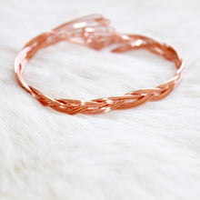 Rose Gold Braided Bracelet that Gives Back to Charity by ROX Jewelry in Austin, Texas » Great Gift ideas for her under $40