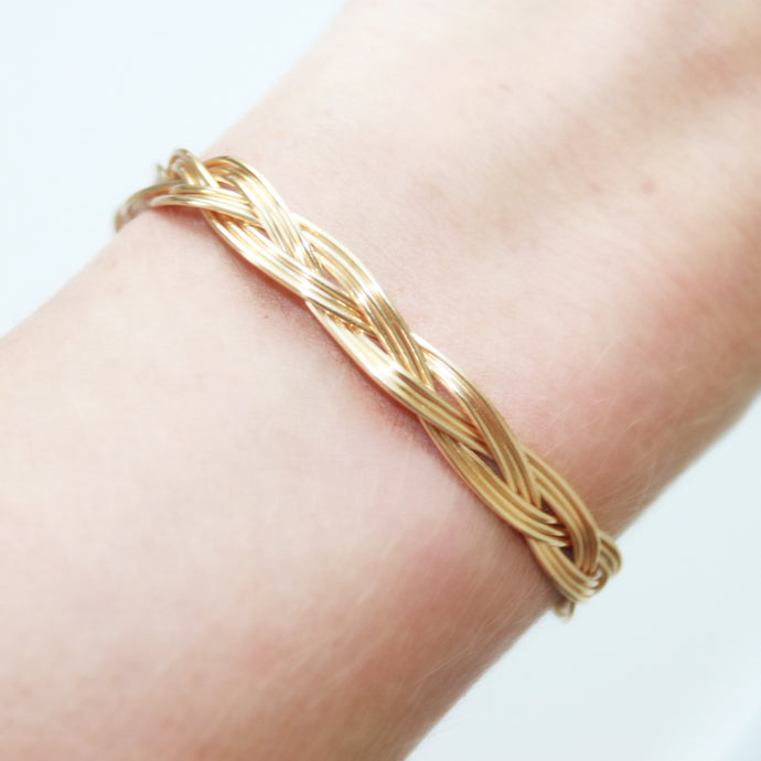 Gold Braided Bracelet that Gives Back to Charity by ROX Jewelry in Austin, Texas » Great Gift ideas for her under $40