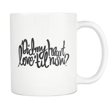 ROX Jewelry Shop - Coffee Mugs that Give Back - Valentines Day Baby Shower or Wedding Gift Did My Heart love til now charity mug