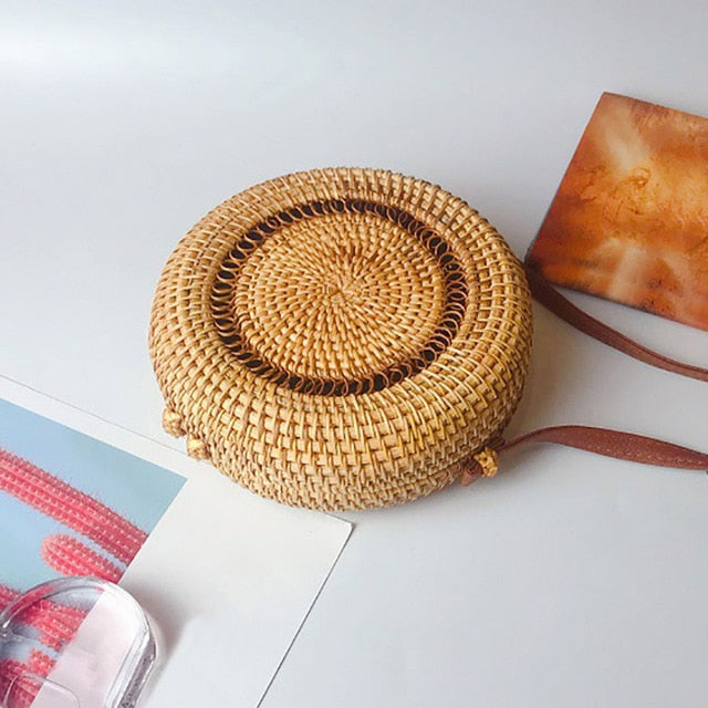 Round Cabana Cross Body Purse – Straw Bag – Round Purse under $50 – Purses that Give Back to Charity by ROX Jewelry Shop – Affordable Gift Ideas for Her