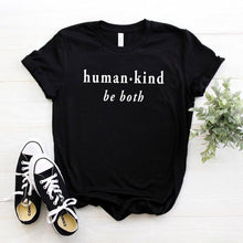 Human Kind Be Both Shirt in Black – Kind Vibes – Apparel that Gives Back to Charity by ROX Shirts in Kindness Collection – Positive Apparel