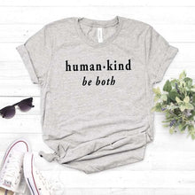 Human Kind Be Both Shirt in Gray – Kind Vibes – Apparel that Gives Back to Charity by ROX Shirts in Kindness Collection – Positive Apparel