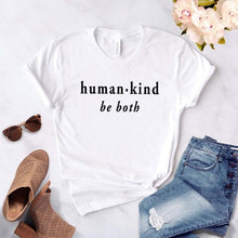 Human Kind Be Both Shirt in White – Kind Vibes – Apparel that Gives Back to Charity by ROX Shirts in Kindness Collection – Positive Apparel