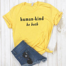 Human Kind Be Both Shirt in Yellow – Kind Vibes – Apparel that Gives Back to Charity by ROX Shirts in Kindness Collection – Positive Apparel